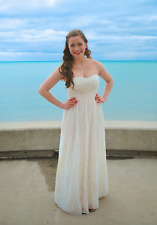 Cachet Strapless Sweetheart Cream Gold Glitter Sparkle Party Prom Cocktail Dress