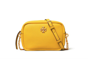 Tory Burch NEW Limited Edition Lemon Drop Strap Leather Chain Mini Bag $258 Auth
