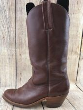 FRYE Cowboy Western Boots Brown Pull On Mid Calf Boots Women Size 8.5 D