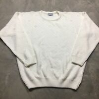 AREA BY TAG 80s 90s VTG Sweater Ivory White Geometric Abstract XL Made in USA