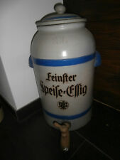 Antiker Keramik Steingut Behälter Essigtopf Essigfass 20 L um 1900 RARITÄT SfG