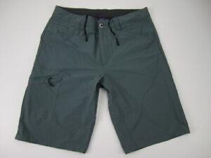 """Mens 34 Patagonia Quandary 12"""" Hiking Shorts nylon elastane teal blue"""