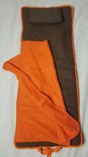 Nap Mat Toddler Sleeping Bag NWOT Brown & Orange Fleece Blanket Pillow Kid