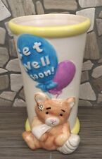 Get Well Soon Balloons Ceramic Flower Vase / Planter / Candy Dish