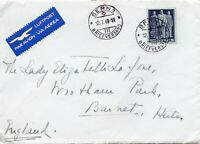 Switzerland 1948 Air Mail Cover to Barnet addressed to Lady Elizabeth Lafone
