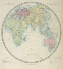 EASTERN HEMISPHERE Europe Africa Asia Supposed Antarctic Continent SDUK 1857 map