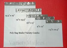 50 POLY BAG POSTAL MAILING ENVELOPE COMBO ~ 5 SIZES ~ FAST PRIORITY SHIPPING!