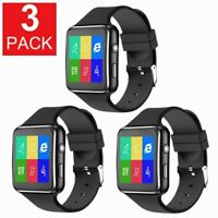 3 PACK Smart watch For iPhone Android IOS SIM Bluetooth Smart Watch Touch Screen