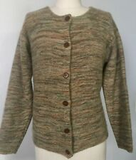 Beautiful Vintage Women's Soft Striped Patterned Cashmere Cardigan Sweater- M-