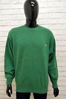 Maglione Uomo ENRICO COVERI Taglia Size L Felpa Pullover Sweater Man Lana Verde