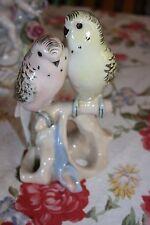 Antique ca 1919 Royal Dux Porcelain Parakeets Figure Pink E Triangle/#  MINT