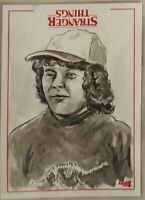 Dustin Stranger Things Welcome Upside Down Sketch Card Neil Camera Topps 1/1