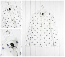 NUEVO LEE 101 con botones Camisa Corte Normal Blanco M