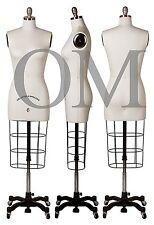 Professional Female Mannequin Dress Form, W/ Collapsible Shoulders Size 6 (cs 6)