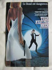 plaque metal affiche JAMES BOND 007 poster TUER N'EST PAS JOUER Living Daylights