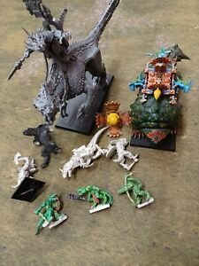 Warhammer Fantasy Battle Lizardmen Seraphon Lot Carnosaur Bastiladon GW AoS WFB