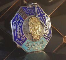 Alter Anhänger Silber 925 mit 18Kt Gold Verzierung Gottheit South Amerika