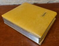Vintage 1970's Upjohn Pharmaceuticals Leather Photo Album Beige Tan