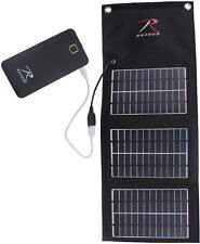 Portable Folding Solar Panel Charger & Power Bank Battery 5V 1.5A USB MOLLE