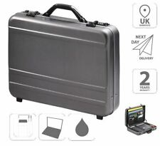 "Aluminium Briefcase Attache Case 17"" Laptop Case FI2996 + Free iPad Case"