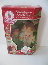 Vintage Strawberry Shortcake Doll With Strawberrykin Doll 1985 Sealed New