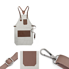 barber waterproof leather sleeveless barber apron