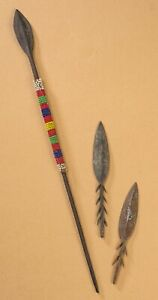 FLÈCHES DE SAGAIE ANCIENNES ART AFRICAIN COLLECTION LOT DE 3