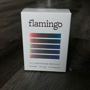 Flamingo Women's Razor Blades 4x Five Blade Cartridge Refills NEW and Sealed