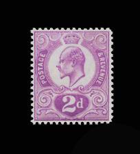 ***REPLICA*** of Great Britain Edward VII 1910 2d Tyrian plum SG 266a, spec. M14
