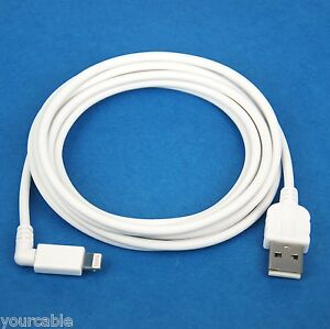 2M 6ft Fast Charger ONLY Right Angle USB Cable WHITE for iPad Pro Air 2 mini 4 3