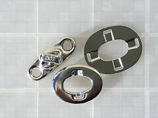 Turnbutton doppia altezza con piastra di base e Occhiello Fissaggio Tenda Cappuccio (tb20)