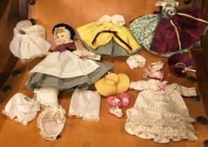 Vintage Miniature Madame Alexander Doll + Extra Clothes Bloomers, Dress, Hat...