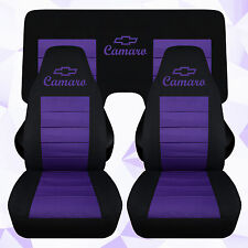cc 1982-1992 Camaro Front and 3 piece rear car seat covers color choic chevrolet