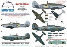 Montex Super Mask 1:32 Hurricane I MET.Wings for PCM Spraying Stencil #1 #K32198