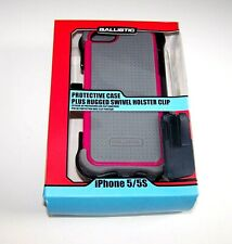 BALLISTIC - IPhone 5 / 5S Protective Case - Shock Absorbent -Swivel Holster Clip