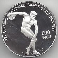 Korea 500 Won 1990 Olimpiada de Barcelona @@ Discobolo @@