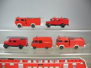 Y163-0, 5 #5x wiking H0 / 1:87 Models Fire Brigade MB 27+ Opel Blitz Etc.