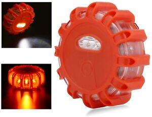 LED Flare Emergency Road Disc Safety Light Flashing Roadside Beacon Warning Lite