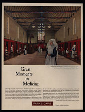 1960 PARKE-DAVIS Great Moments In Medicine - Nuns - ROBERT THOM Art  VINTAGE AD