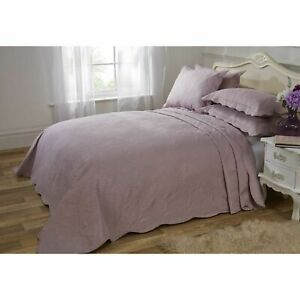 Emma Barclay Athena Quilted Paisley Motif Bedspread Set, Aubergine - Double Bed