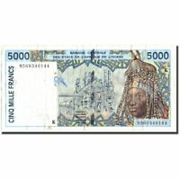 [#570698] West African States, 5000 Francs, 1995, 1995, KM:713Kd, TB+