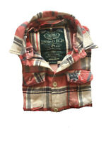 Superdry Mens Cotton/Polyester/Viscose Plaid Long Sleeve Shirt M(B667)