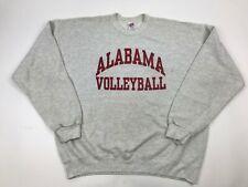 Vtg 90s ALABAMA VOLLEYBALL Crimson Sweatshirt XL Pullover SOFFE Sweats 50/50 USA