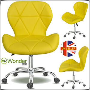 Office Lift Swivel Computer Desk Chair PU Leather Cushioned Studio Salon Barber