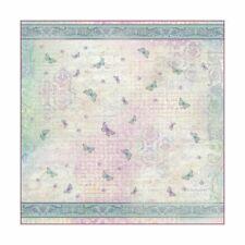 Tovagliolo in carta di riso Texture farfalle con fondo lilla
