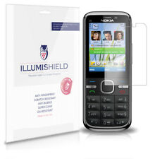 iLLumiShield Phone Screen Protector w Anti-Bubble/Print 3x for Nokia C5