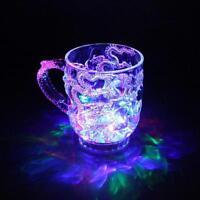 LED-Induktions-Regenbogen-Blinklicht-Whisky-Becher-Bier-Schale Fantastisch V5I9