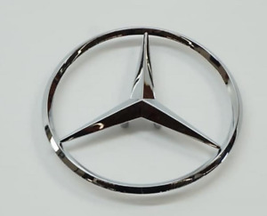 90mm for Mercedes Trunk Boot Rear Star Badge Emblem Chrome E Class with 3 Pins