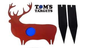 Reactive Deer Hardox AR 500 Steel Shooting Target