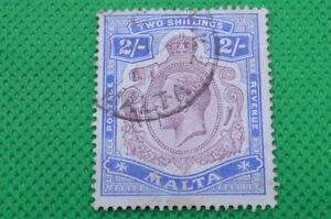 MALTA , G.V , 2/- , 1914 -1922   , (S392)